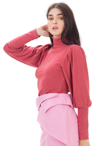 Bille shirt -Dark pink