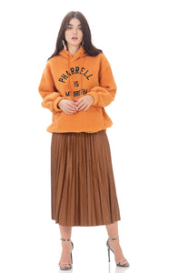 Silvia faux leather skirt - Brown
