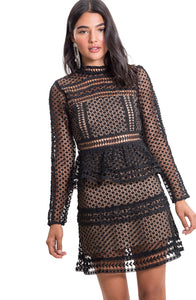 Lacy dress - Black