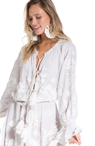 Hand made white boho dress INS