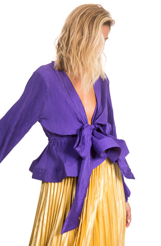 Leila blouse -Purple