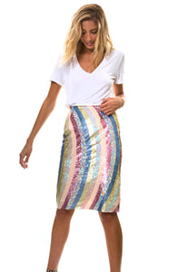 Rainbow Sequin skirt
