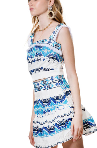 BLUE RESORT SET SKIRT