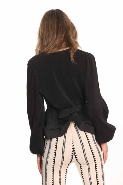 Leila blouse-black