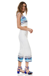 BLUE RESORT SET PANTS