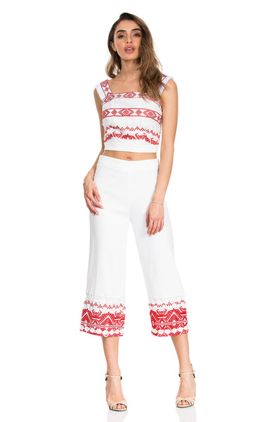 RED RESORT SET PANTS