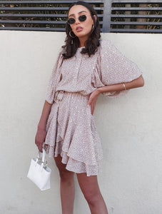 Stephanie dress-Beige pattern