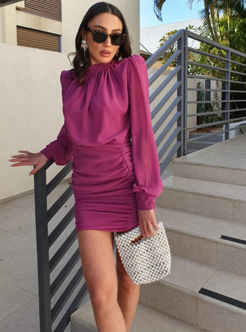 Tommy dress-  fuchsia