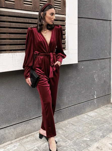 Deni jumpsuit - Bordeaux