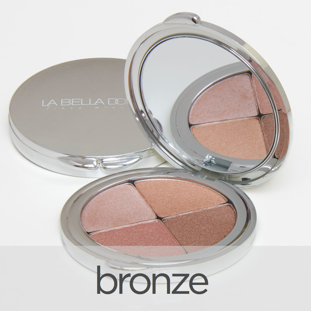 Vision of Mineral Lights | Compressed Mineral Quad Bronzing, Eyeshadow, and Blush - LA BELLA DONNA MINERALS