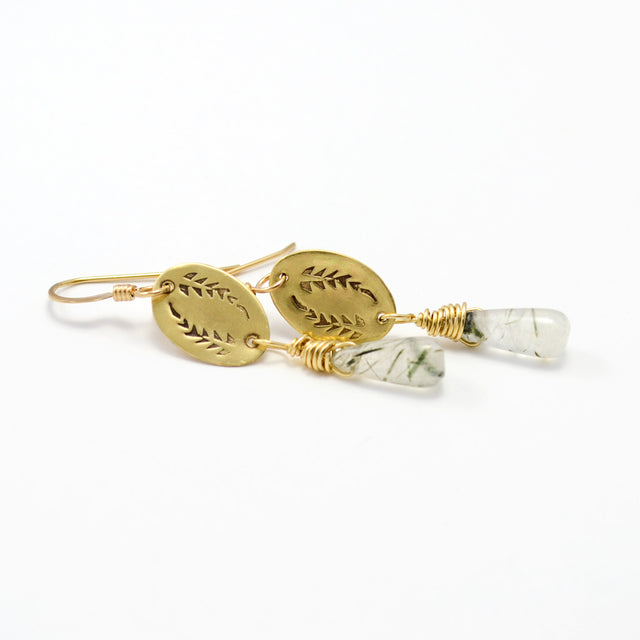 Triumph Palm Branch Christian Earrings by Tracy Hibsman Studio Christian Jewelry