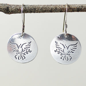 Peace Dove Earrings-Tracy Hibsman Studio