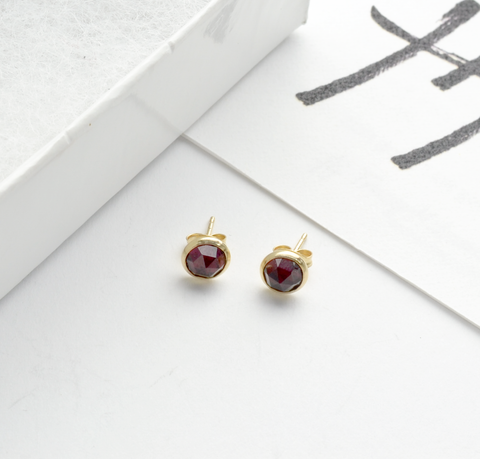 Greater Love Garnet Stud Earrings
