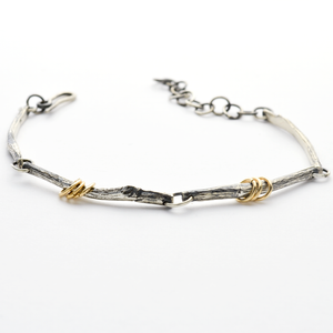 Greater Love Sterling Silver Branch Bracelet for Women or Men