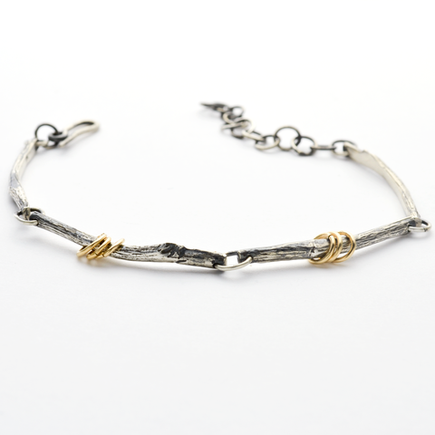 Greater Love Sterling Silver Branch Bracelet for Women or Men-Tracy Hibsman Studio