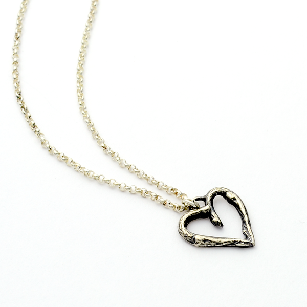 Greater Love Heart Necklace - John 15:13
