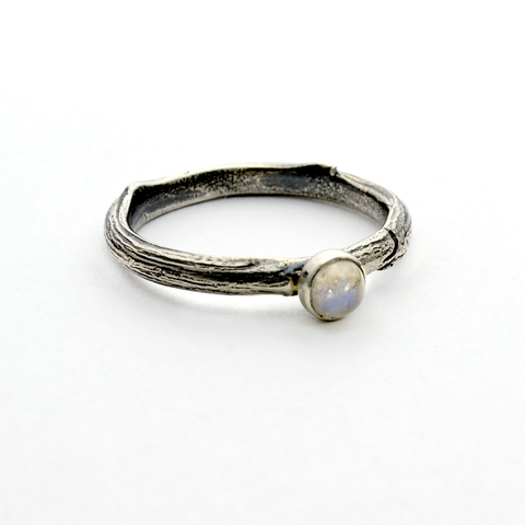 Greater Love Sterling Silver Moonstone Ring