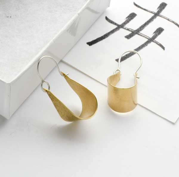 Peace Olive Leaf Hoop Earrings