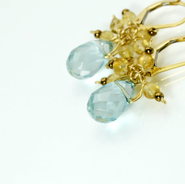 Peace Blue Topaz Earrings - John 14:27