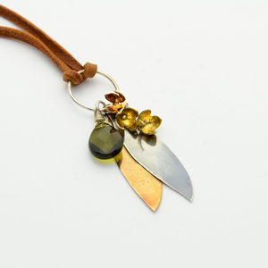 Customized Olive Leaf & Olive Blossom Necklace - John 14:27