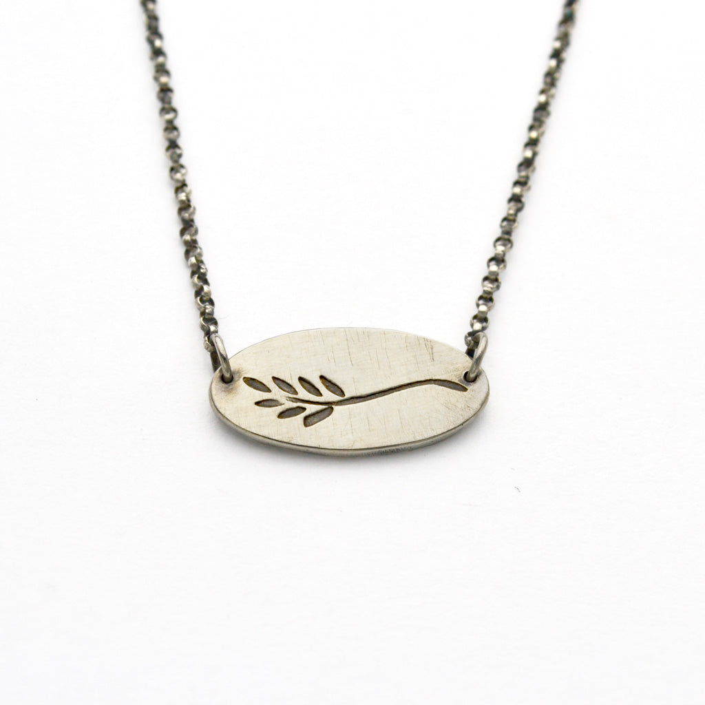 Peace Sterling Silver Necklace Inscribed With Seek Peace-Tracy Hibsman Studio