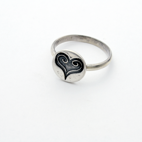 Purity of Heart Fine & Sterling Silver Stacker Ring-Tracy Hibsman Studio