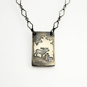 As the Deer Sterling Silver Necklace Inscribed with Psalm 42:1