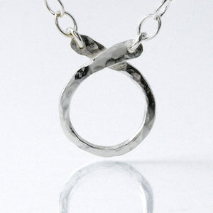 Circle Charm Holder Necklace in Sterling Silver-Tracy Hibsman Studio