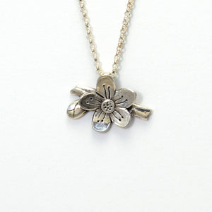 Gratitude Sterling Silver Agrimony Flower Necklace-Tracy Hibsman Studio