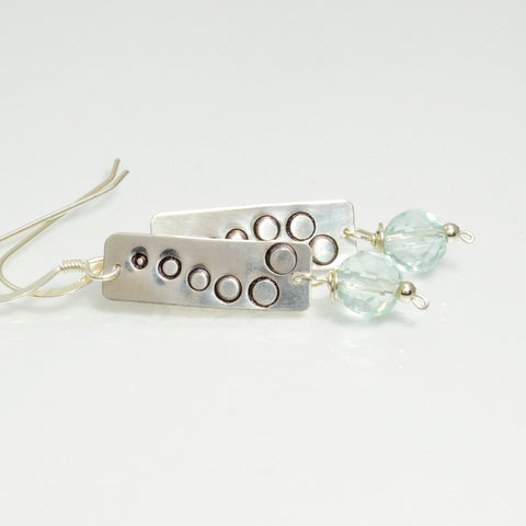 Praise Sterling Silver & Blue Quartz Dangle Earrings-Tracy Hibsman Studio