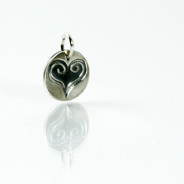 Purity of Heart Fine Silver Charm