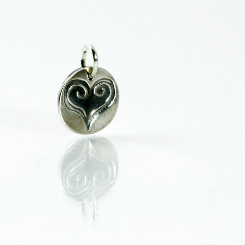 Purity of Heart Fine Silver Charm-Tracy Hibsman Studio