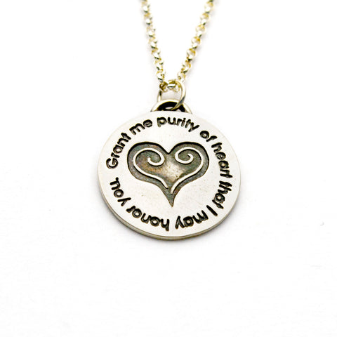 Purity of Heart Necklace in Sterling Silver & Fine Silver