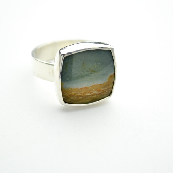Journey 4 Ring with Landscape Jasper in Sterling Silver