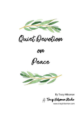 30 Day Quiet Devotion on Peace eBook