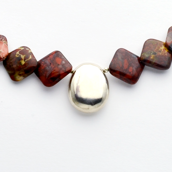 The Rock Jasper & Fine Silver Christian Necklace-Tracy Hibsman Studio