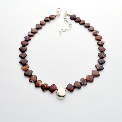 The Rock Jasper & Fine Silver Christian Necklace
