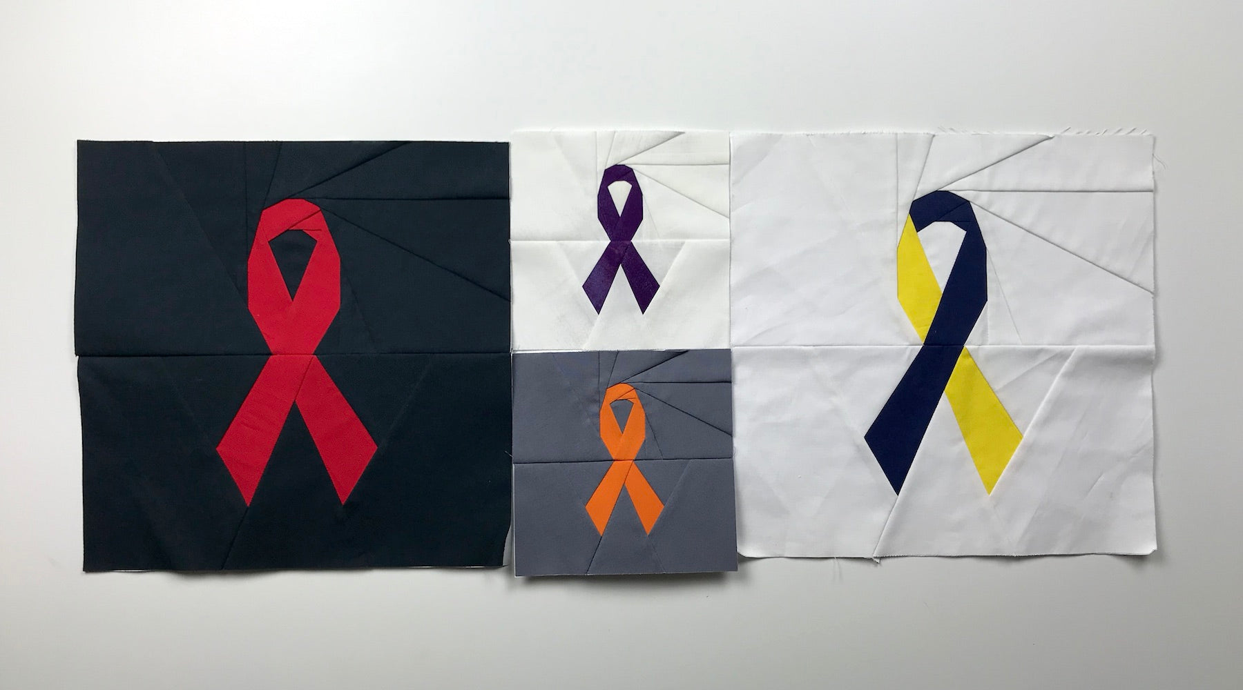 Awareness Ribbon: A Foundation Paper Piecing Pattern