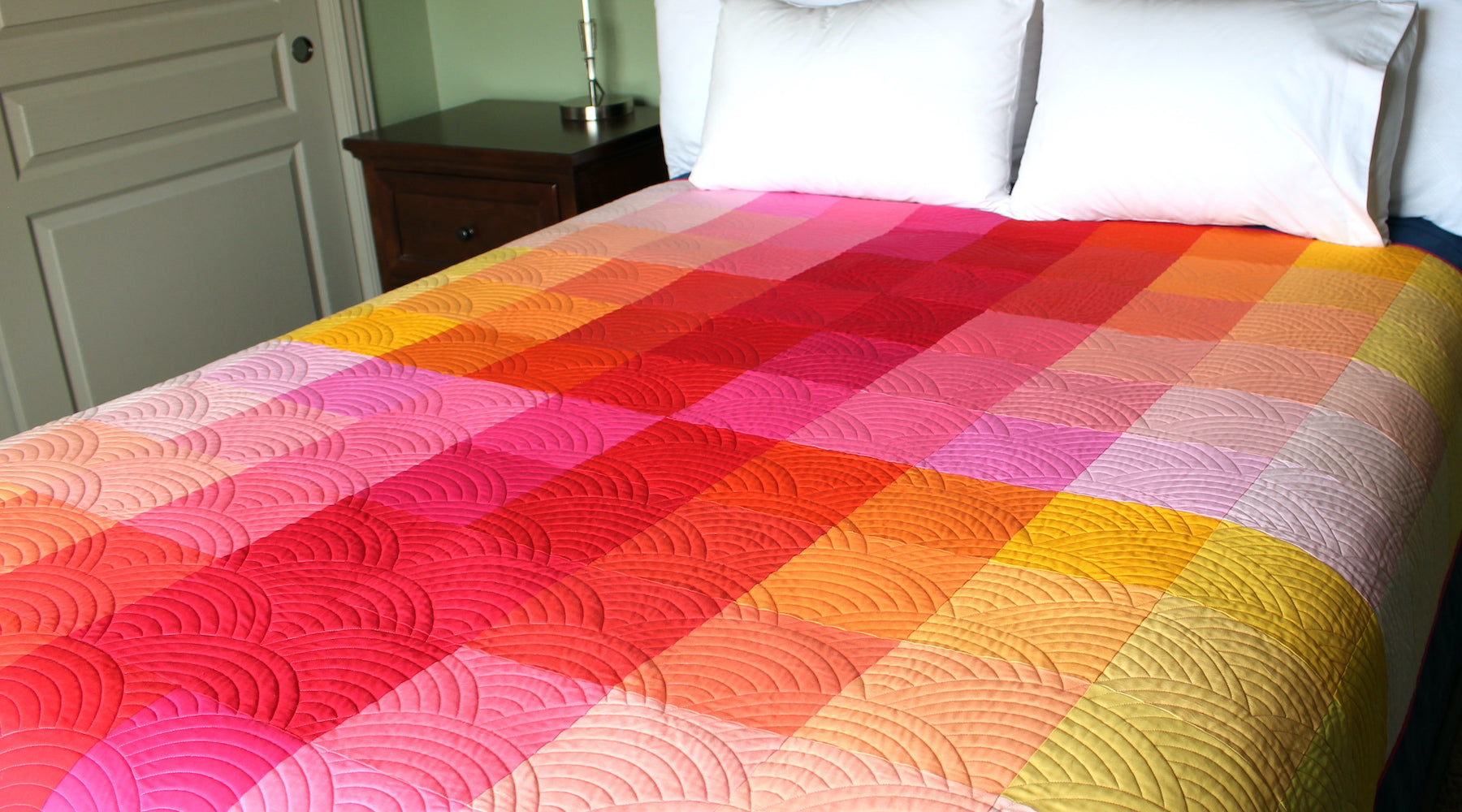 Gradient Grid Quilt: YRM Variation