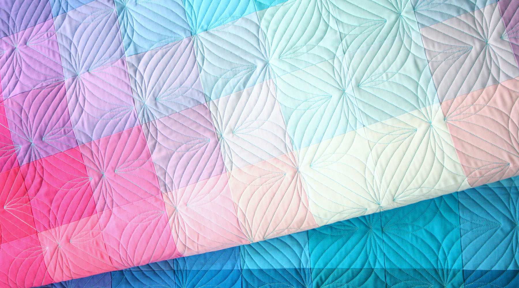 Gradient Grid: a Free Quilt Pattern