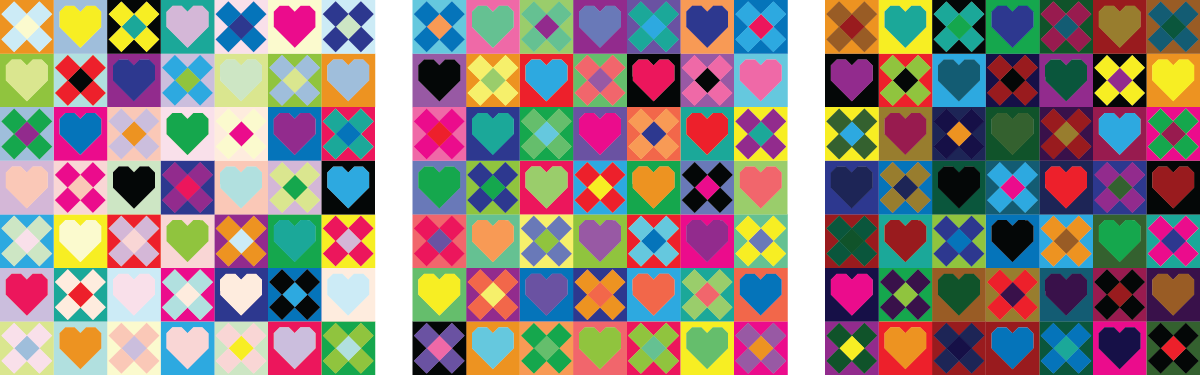 Be Mine Quilt - Scrappy versions