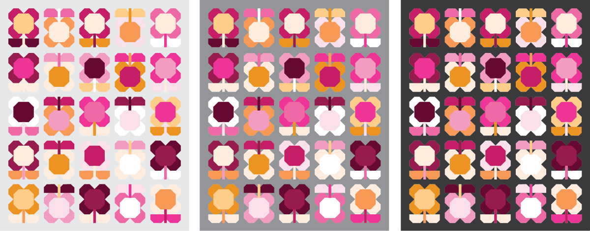 Folk Blooms Quilt in 2 colors - Sewfinity.com