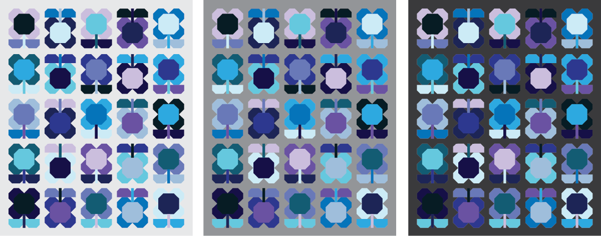 Folk Blooms Quilt in 3 colors - Sewfinity.com