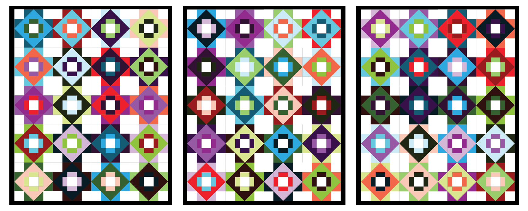 Meadowland Quilt mockups by Sewfinity