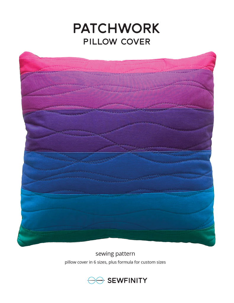 Patchwork Pillow Cover - a free sewing pattern by Sewfinity