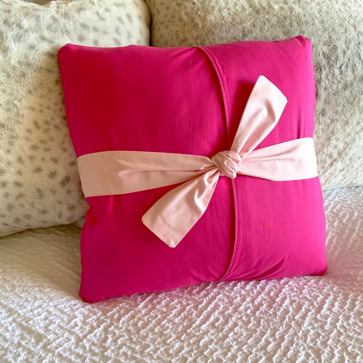SewPINK Breast Cancer Awareness Ribbon Pillow by Sewfinity