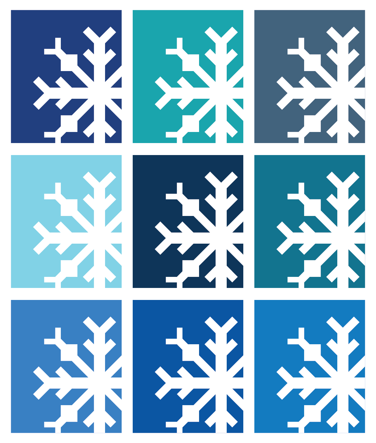 Snowflake Quilt in Blue Colors