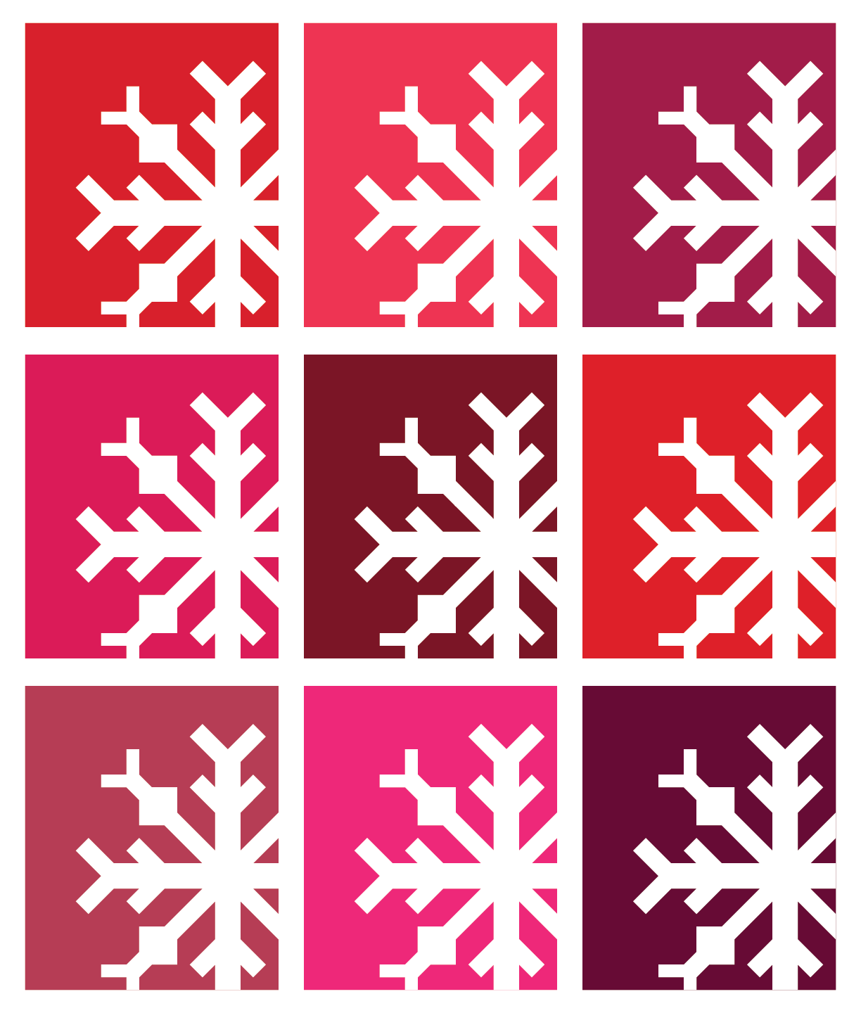 Snowflake Quilt in Red Colors