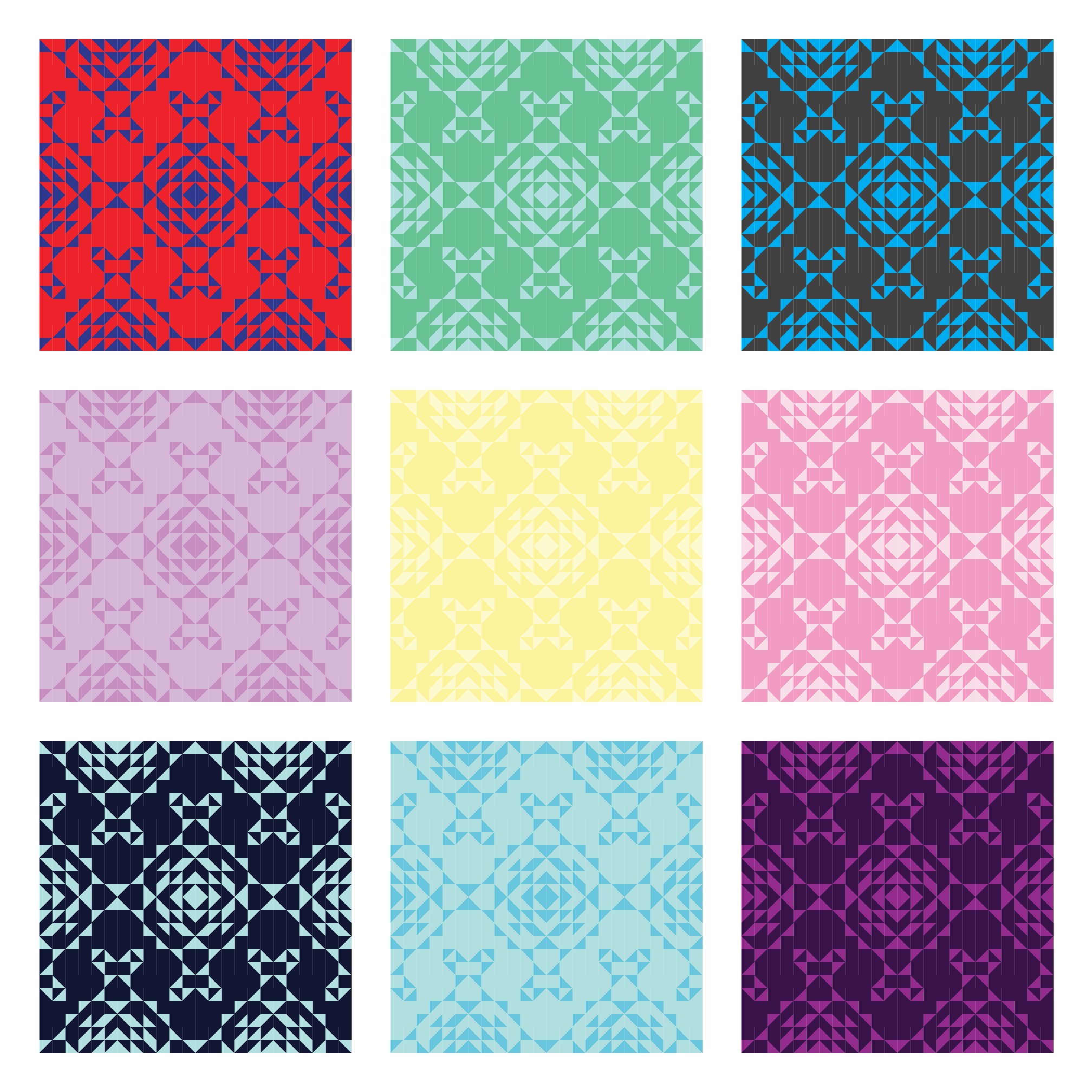 Vintage Lace Quilt 2-color mockups