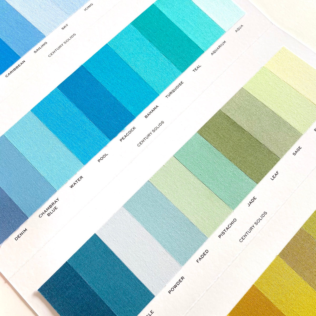 Century Solids Color Card by Andover Fabrics
